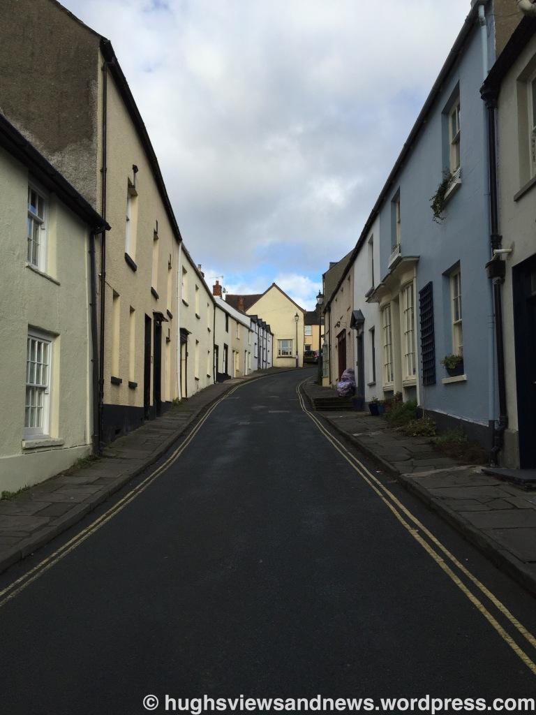 A street in Crickhowell, Powys, Wales