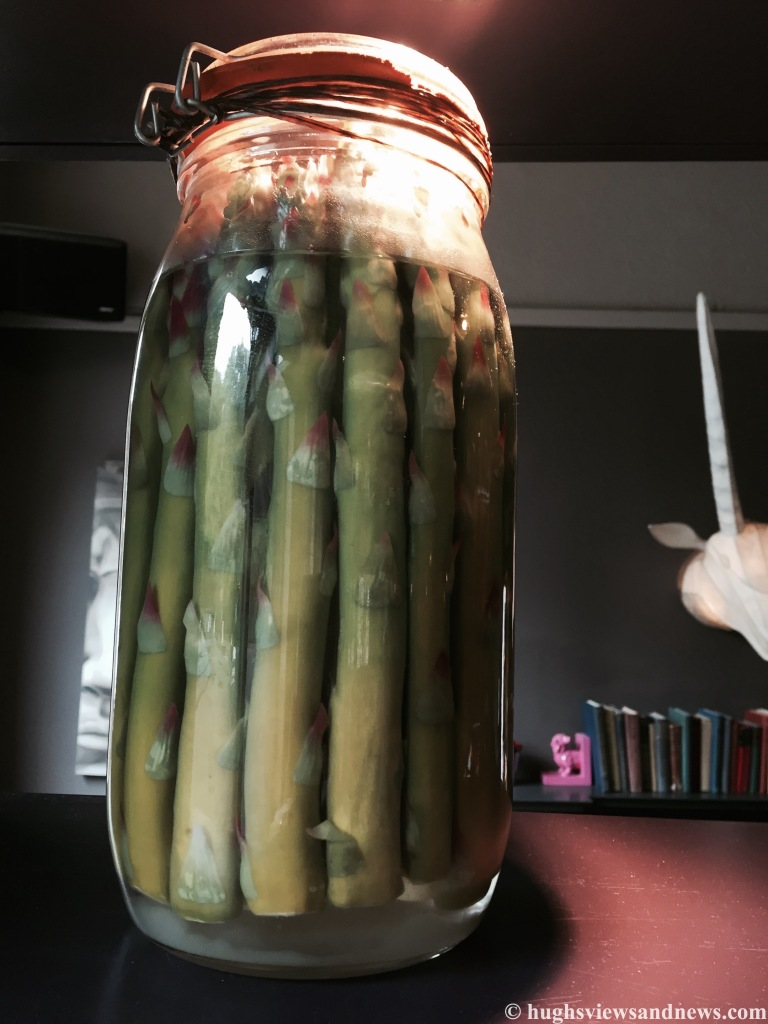 Vegetables stuffed in a jar