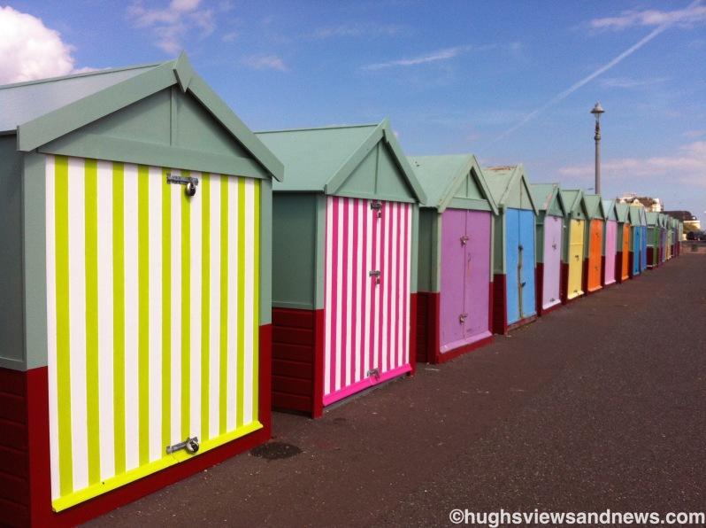 Beach huts along Brighton & Hove seafront