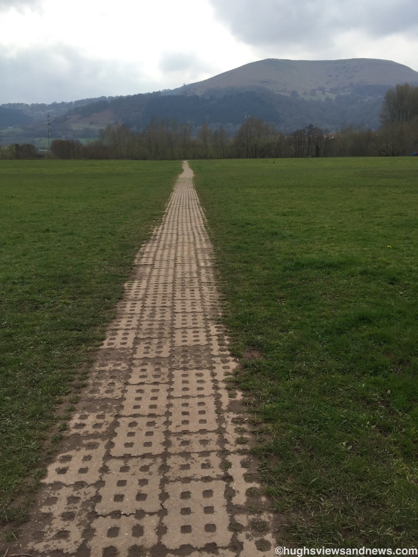 Pathway in Castle Meadows, Abergavenny