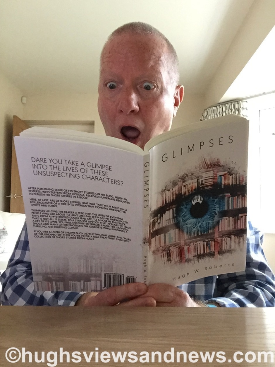 Hugh W. Roberts reading his new book Glimpses #competition #prizes #Amazon