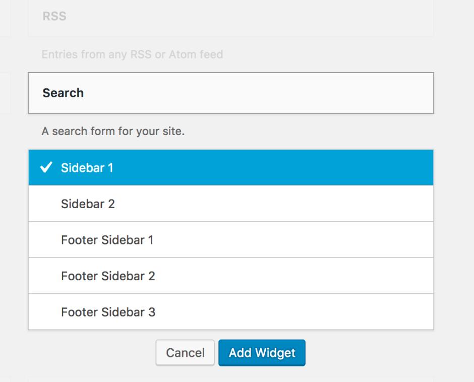 Search bar widget