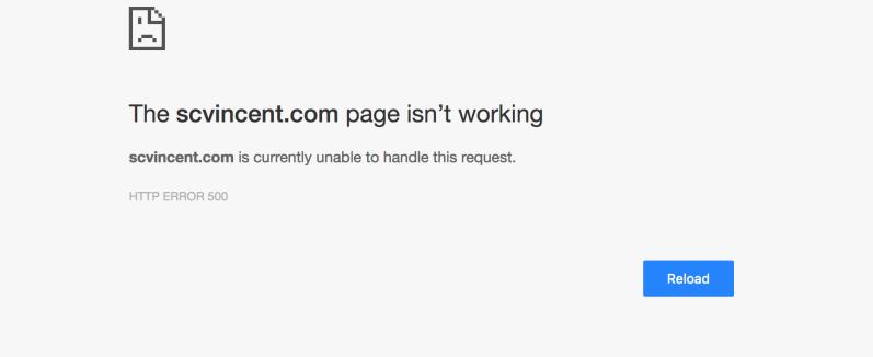 Error message from WordPress