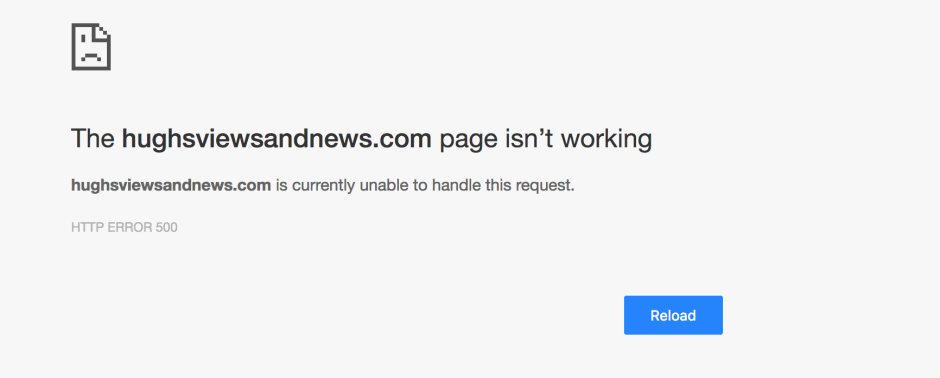 WordPress error message for my blog