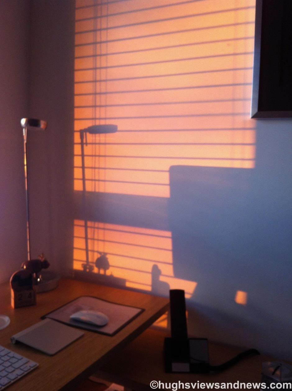 Shadows of my desk