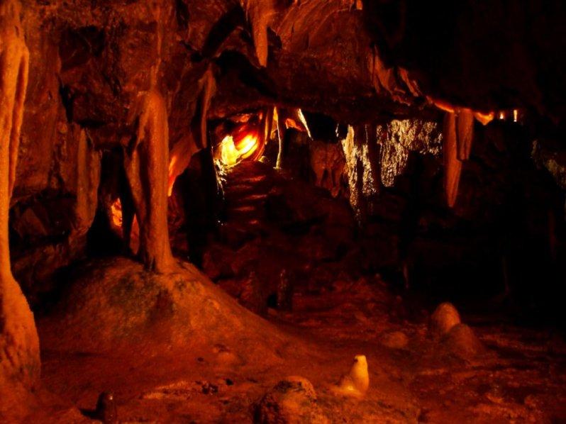 Deep inside a cave