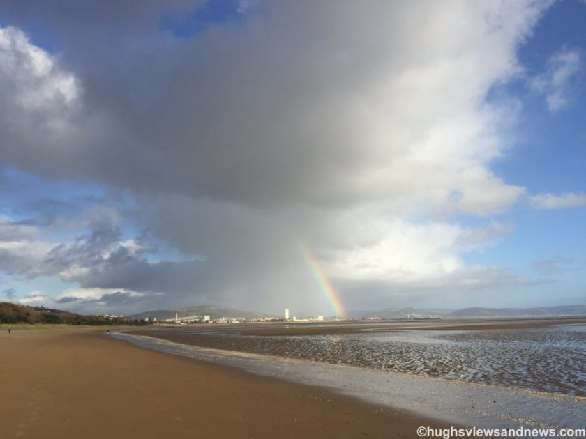 Rainbow over Swansea