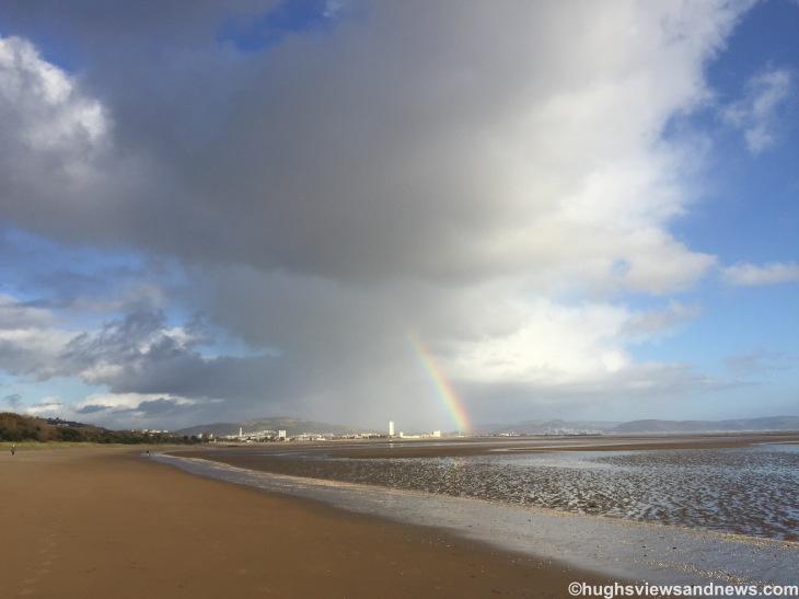 Rainbow over Swansea