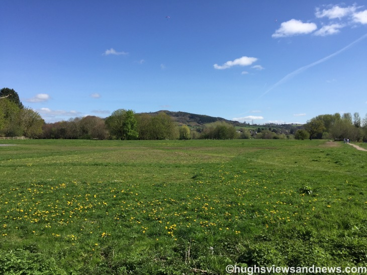 Castle Meadows in Abergavenny