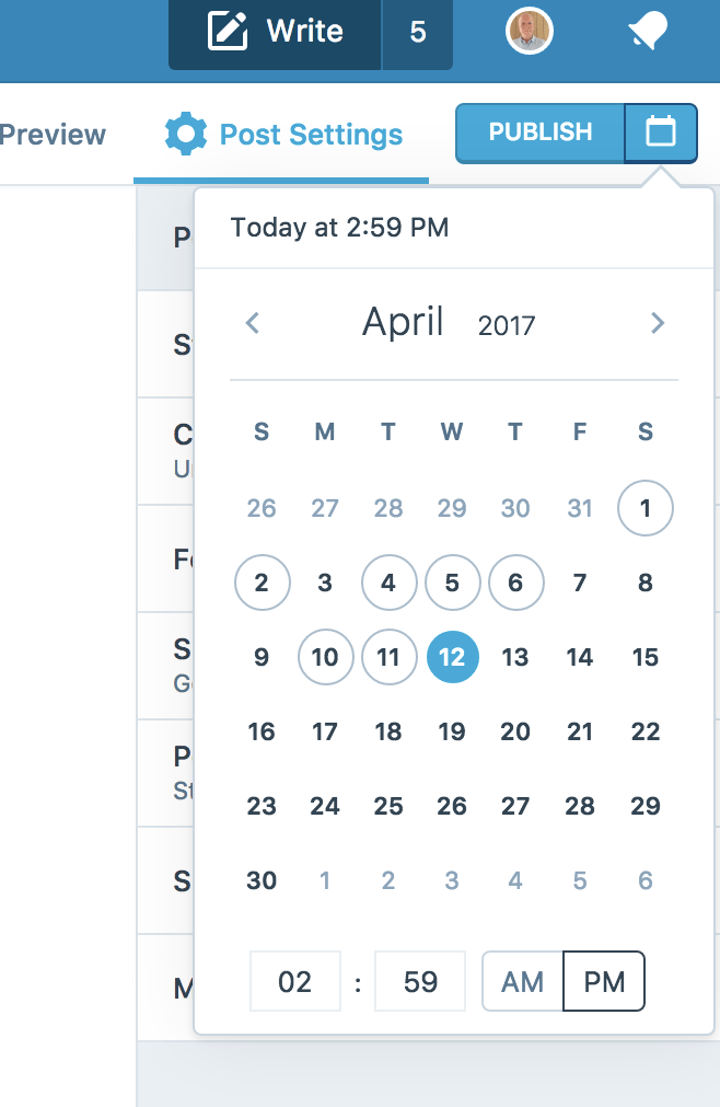 How to schedule a blog post on WordPress