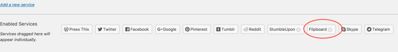 Enabled sharing buttons on a #WordPress blog