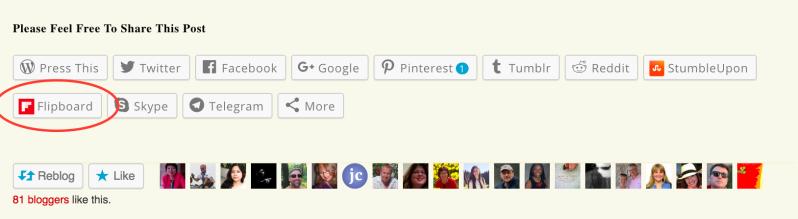 The Flipboard sharing button
