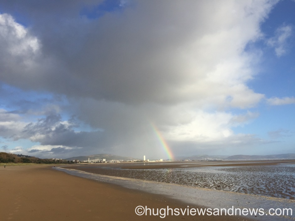 #weather #swansea #rainbow