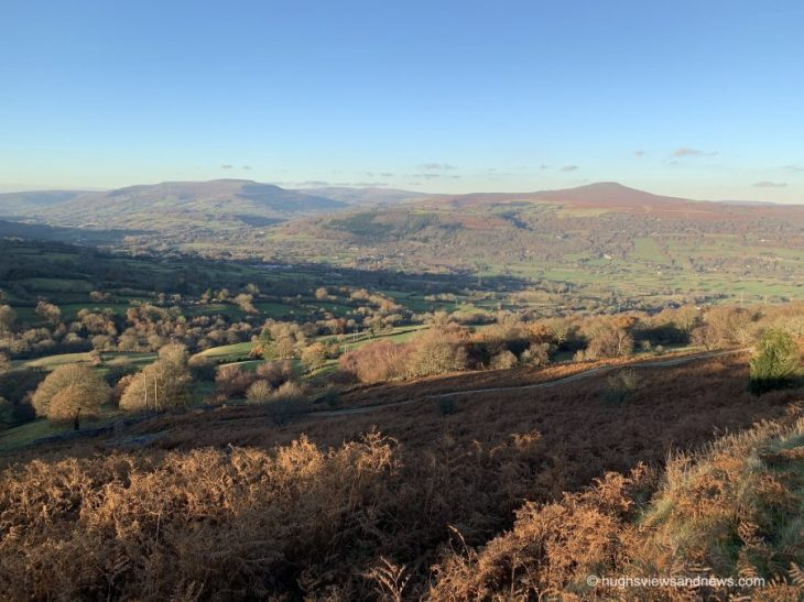 Photo of mountains and a valley in the Brecon Beacons South Wales